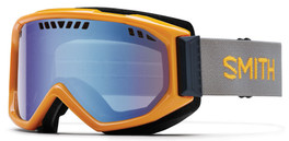 Smith Optics Snow Goggles Scope Airflow Series in Solar with Blue Sensor Mirror Lens