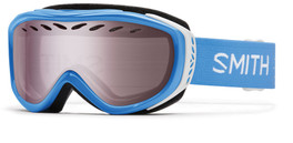 Smith Optics Snow Goggles Transit Airflow Series in French Blue with Ignitor Mirror Lens
