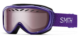Smith Optics Snow Goggles Transit Airflow Series in Ultraviolet with Ignitor Mirror Lens