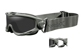 Wiley X Spear Tactical Safety Goggles in Green with Smoke & Clear Lens