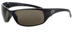 Bollé Designer Sunglasses: Recoil in Shiny-Black with TNS Grey Lens