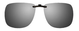 Montana Eyewear Clip-On Sunglasses C3 in Polarized Silver Mirror/Grey 62mm
