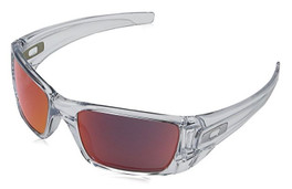 Oakley Designer Sunglasses Fuel Cell OO9096-H660 in Polished-Clear & Torch Iridium Lens