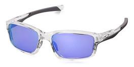 Oakley Designer Sunglasses Chainlink OO9247-06 in Crystal & Violet Iridium Lens