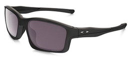 Oakley Designer Polarized Sunglasses Chainlink OO9247-15 in Matte-Black & Grey Lens