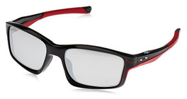 Oakley Designer Sunglasses Chainlink OO9247-19 in Polished-Black & Chrome Iridium Lens
