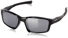 Oakley Designer Sunglasses Chainlink OO9247-01 in Polished-Black & Grey Iridium Lens
