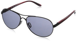Oakley Designer Sunglasses Tie Breaker OO4108-07 in Polished-Black & Grey Lens