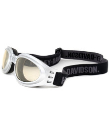 Harley-Davidson Designer Goggles HDSZ904-SI in Silver with Yellow Lens