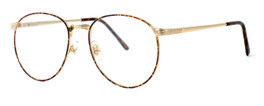Fashion Optical Designer Reading Glasses E788 in Gold Amber 51mm
