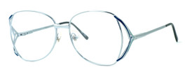 Regency International Designer Reading Glasses Gloria in Silver Blue 57mm