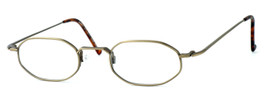 Regency International Designer Reading Glasses SL510 in Antique in Gold 46mm