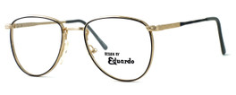 Regency International Designer Reading Glasses Dover in Gold Grey 52mm