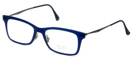 Ray-Ban Designer Reading Glasses RB7039-5451 in Matte-Blue 51mm