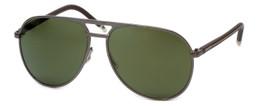 Harley-Davidson Official Designer Sunglasses HD2000-08Q in Gunmetal Frame with Carl Zeiss Green Lens