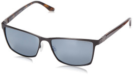 Spine Optics Designer Sunglasses SP8001-001 in Black with Polarized Silver Flash Mirrored Grey Tint 60mm