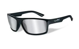 Wiley X Peak in Gloss-Black & Silver Flash Lens
