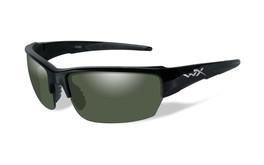 Wiley X Saint in Gloss-Black & Polarized Green Lens