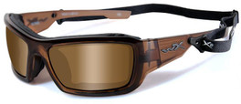 Wiley X Knife in Brown Crystal & Polarized Bronze
