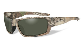 Wiley-X High Performance Eyewear Rebel Sunglasses in Real-Tree Camo Frame with Polarized Green Lens (ACREB07)