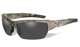 Wiley-X High Performance Eyewear Valor Sunglasses in Real-Tree Camo Frame with Grey Lens (CHVAL03)
