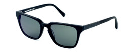 Parkman Handcrafted Polarized Sunglasses Bradfield in Matte-Black with Denim & Grey Lens ; Made in the USA