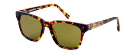 Parkman Handcrafted Polarized Sunglasses Brickma in Tortoise with Coffee & Amber Lens ; Made in the USA