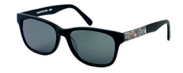 Parkman Handcrafted Polarized Sunglasses Windemere in Matte-Black with Magazine & Grey Lens ; Made in the USA