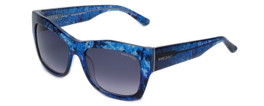 Guess 'Marciano'  Designer Sunglasses Series GM715 in Blue Frame with Grey Gradient Carl Zeiss Lens