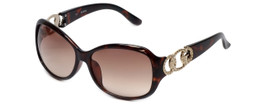 Guess  Designer Sunglasses GUF249 in Tortoise Frame with Amber Gradient Lens
