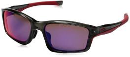 Oakley Designer Sunglasses Chainlink in Grey Smoke & Red Iridium Polarized Lens (OO9252-08)