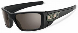 Oakley Designer Sunglasses Fuel Cell  in OD Eagle Matte Black & Grey Polarized Lens (OO9096-91)