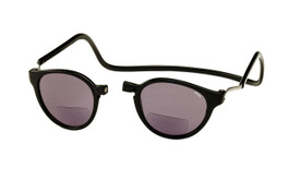 Clic Bi-Focal Reading Sunglasses in Black & Grey Tint