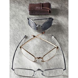 John Varvatos 801 Folding Metal Reading Glasses