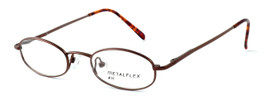 Calabria Kids Fit MetalFlex Designer Eyeglasses H in Brown :: Custom Left & Right Lens