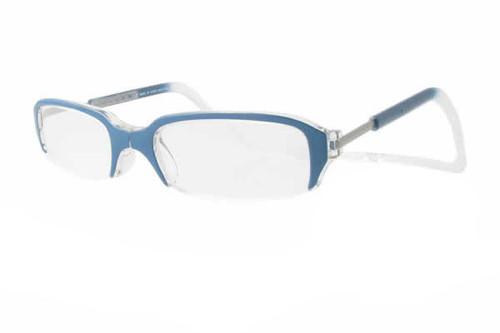 clic magnetic reading glasses half frame style regular