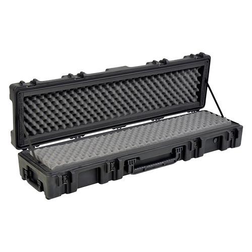 "2R5212-7B  roto Mil-Std. Waterproof Case 7"" Deep w/ Dual Layer Foam, Wheels & Tow Handle - Black"