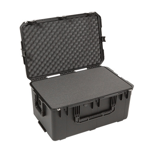 3i-2918-14B-C military standard shipping case with Cubed Foam. Includes wheels and pull handle.