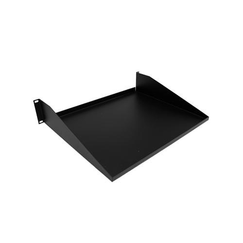 34 105000 2 post rackmount server rack shelf black. Black Bedroom Furniture Sets. Home Design Ideas