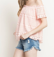The Marie Off The Shoulder-Light Pink