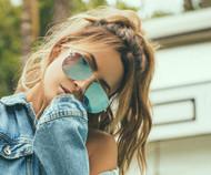 Quay Australia High Key Sunglasses-Silver/Blue