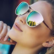 Quay Australia Cherry Bomb Sunglasses - Rose Gold/Pink