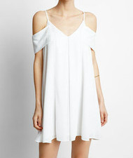 J.O.A Cold Shoulder Flare Dress