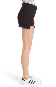STS Black Destroyed Denim Shorts