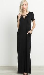 The Jacey Maxi Dress- Black