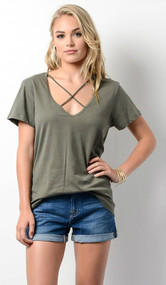 The Carmen Top- Olive