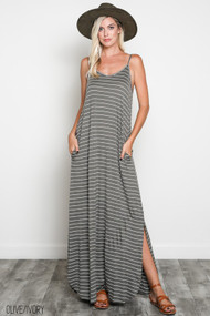 The Alyssa Dress- Olive