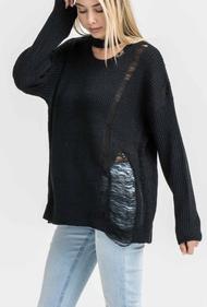 The Adrianna Sweater- Black