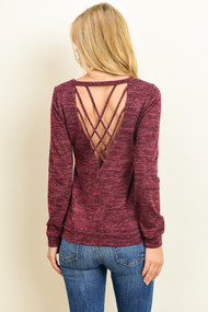 The Danica Top- Burgundy
