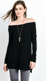 The Kennedy Top-Black
